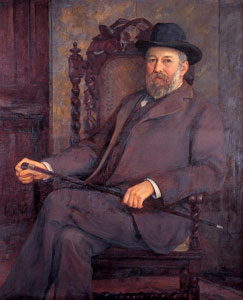 Alan de Tatton Egerton (1845 - 1920) portrait by Marion de Saumarez