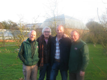Adrian, Robbie, Rob and Mark in Tatton's gardens