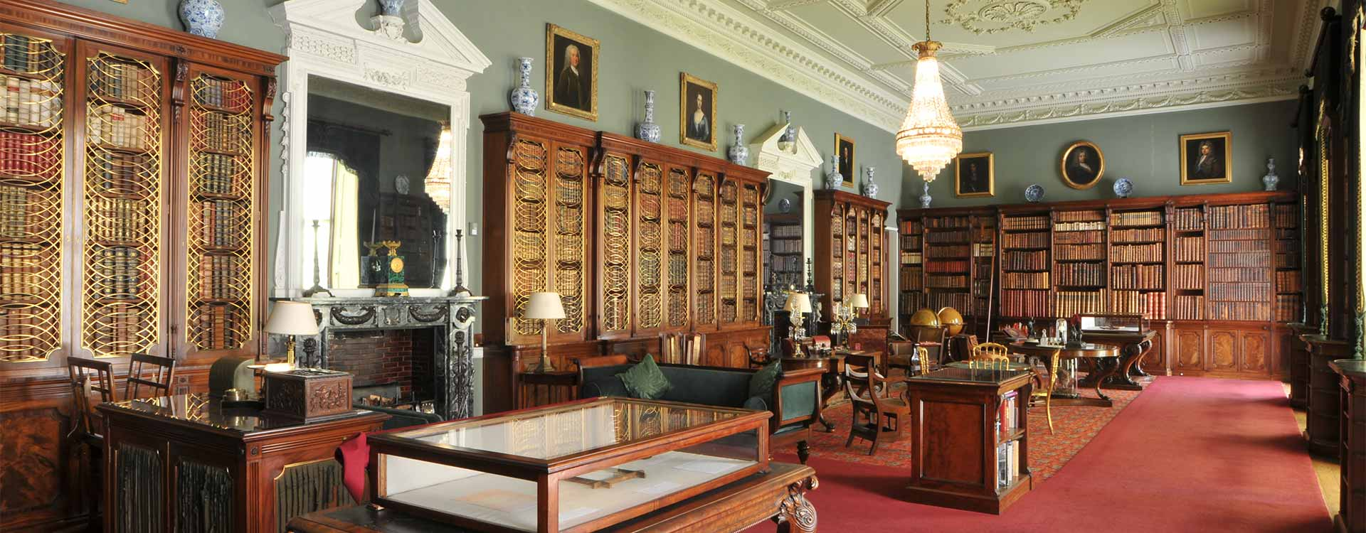 The Library at Tatton Park Mansion