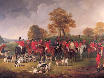 the Cheshire hunt 1839 by Henry Calvert