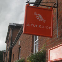 tuck shop sign